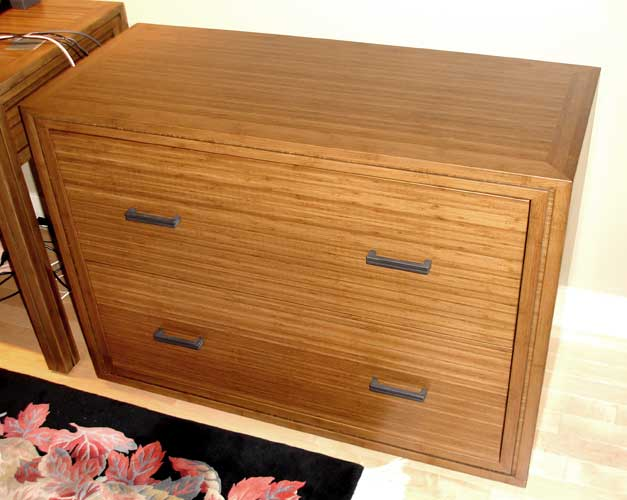 Bamboo File Cabinet
