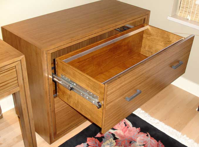 Bamboo File Cabinet File Drawer With Locking Drawer Glides ...