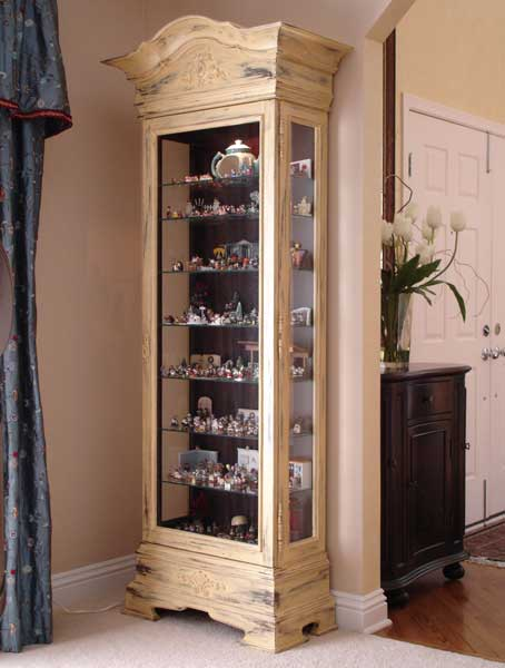 Hand Painted Curio Cabinet ...