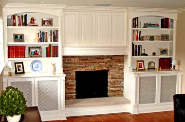 Painted Mantle and Media Center